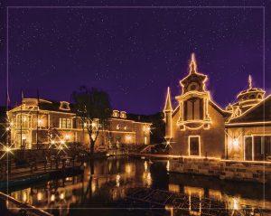 河口湖音楽と森の美術館ライトアップ